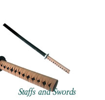 Karate Staffs and Swords